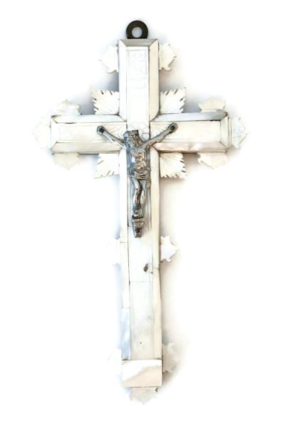 Antique Mother of Pearl Jerusalem Cross