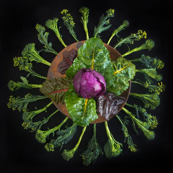 Cabbage, Chard and Broccoli Mandala
