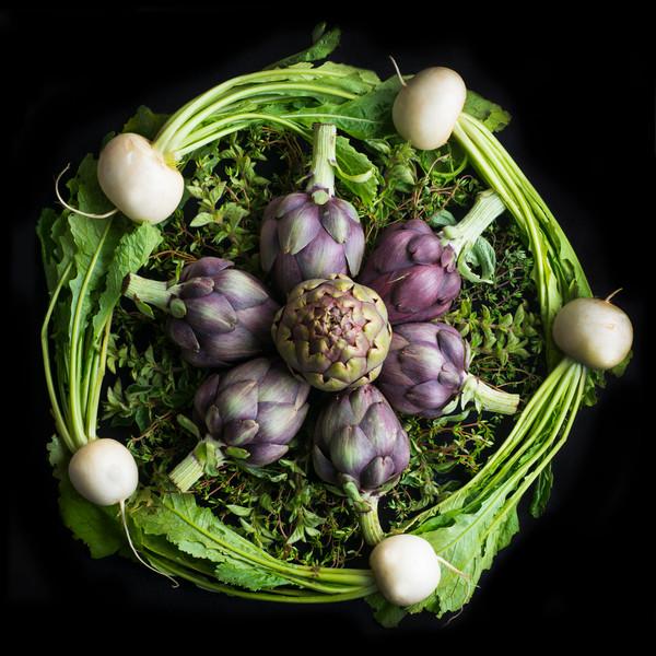 Turnips, Artichokes and Oregano Mandala