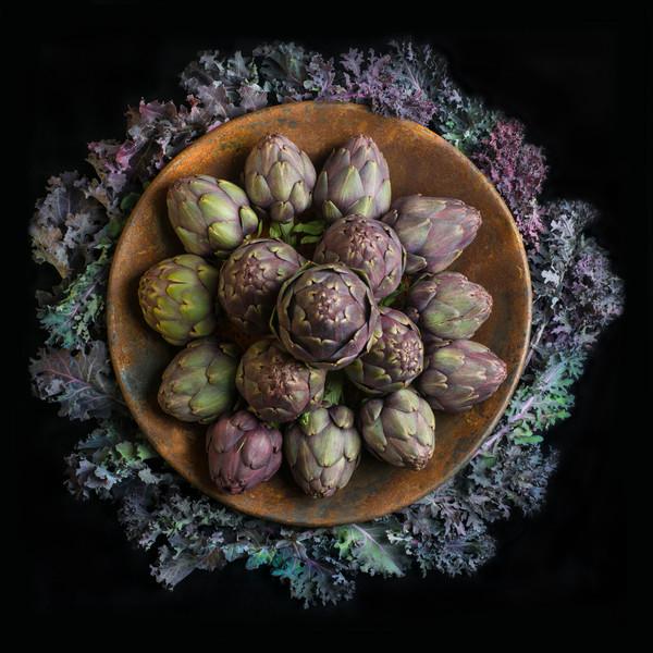 Artichokes and Kale Mandala
