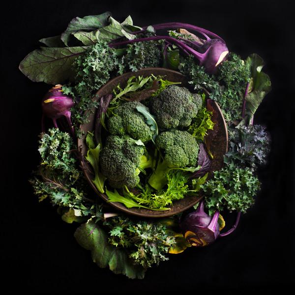 Broccoli and Kohlrabi Mandala