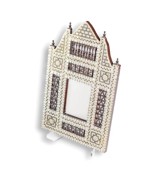 Mid Century Inlaid Mirror