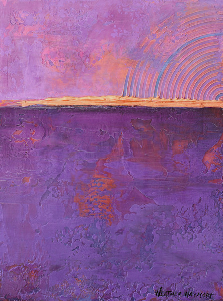 Rainbow Series-Violet 3 by Heather Haymart XL