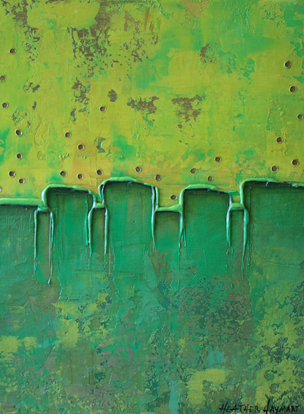 Rainbow Series-Green by Heather Haymart XL