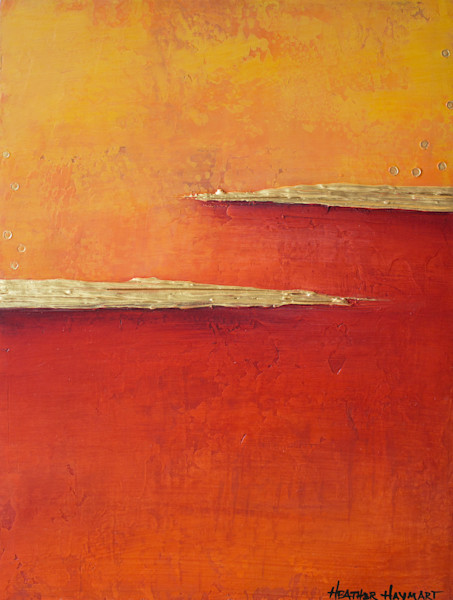 Rainbow Series-Orange 2 by Heather Haymart XL