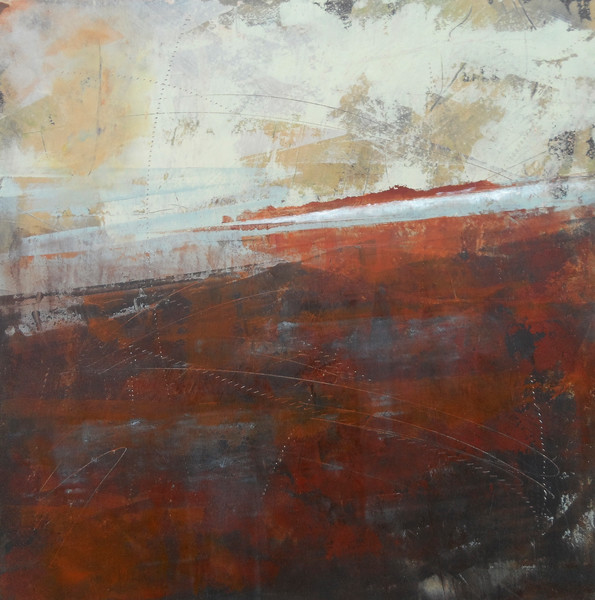 Storm on Monday - Abstract Landscape Painting - Coastal Artwork