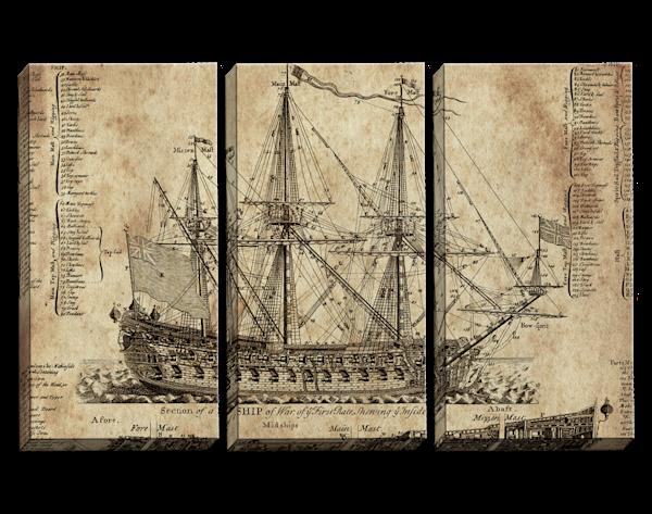 OLD DARK MOON Triptych
