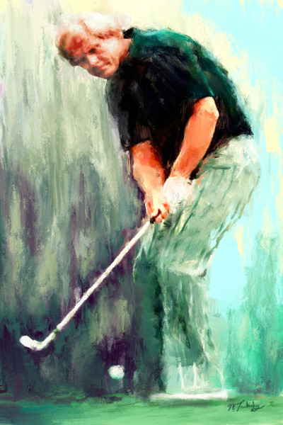 Jack Nicklaus painting | Sports artist Mark Trubisky | Custom Sports Art