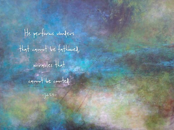 Rolling River - Bible Verse on Strength - Job