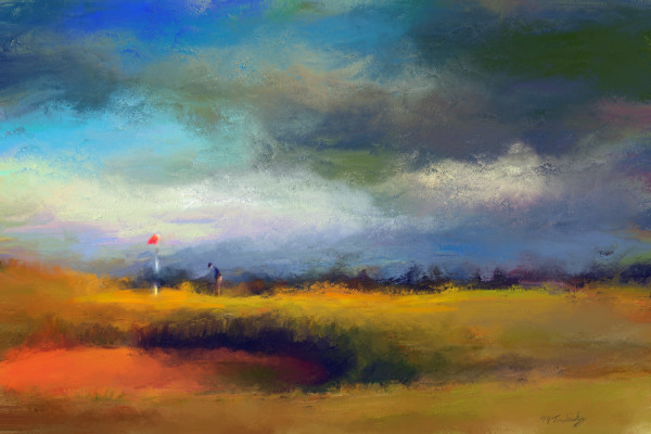 St. Andrews golf painting | Sports artist Mark Trubisky | Custom Sports Art