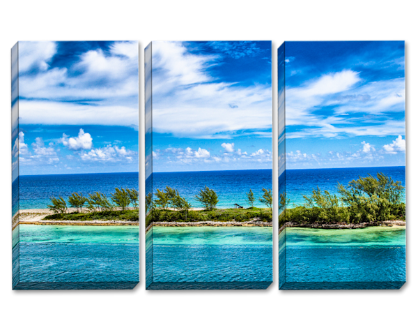 Between Blue Lines Triptych