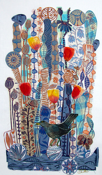 Reproductions of lino collages
