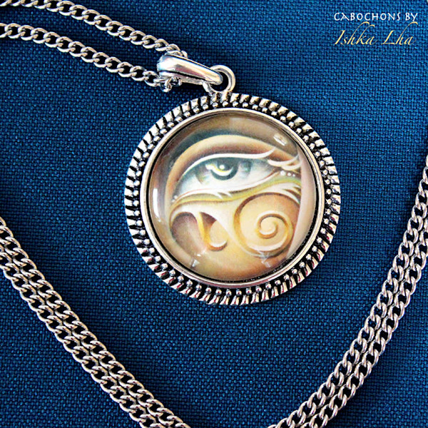 Eye of Horus - Large Round Cabochon