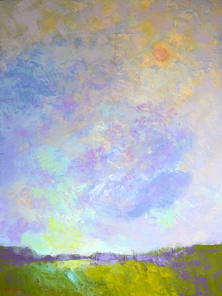 Beautiful Cloud Painting Print on Canvas or Watercolor Paper, On the Rise by Dorothy Fagan