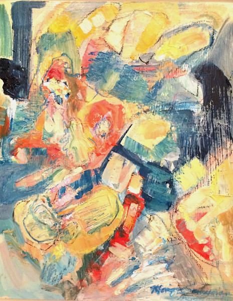 abstracted heavenly figures oil paintings abstracted floral interior