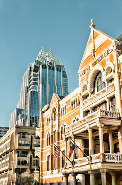 Downtown Austin at Corner of Driskill and Frost Buildings