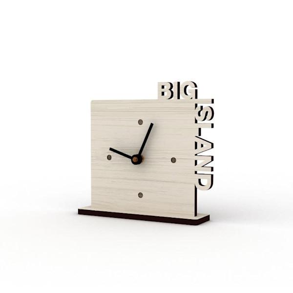 Big Island Sandbank Cutout Clock