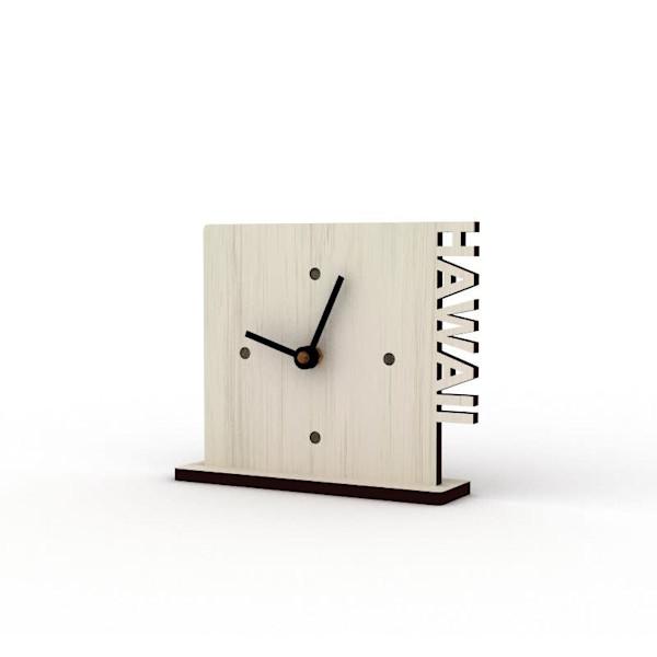 Hawaii Sandbank Cutout Clock