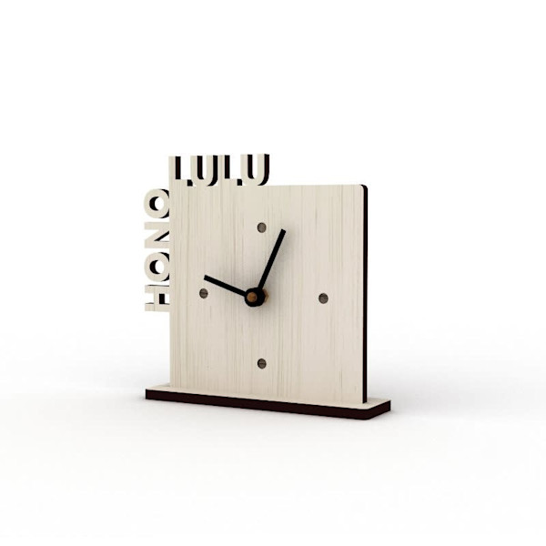 Honolulu Sandbank Cutout Clock