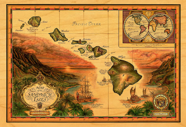 Sandwich Isles postcard