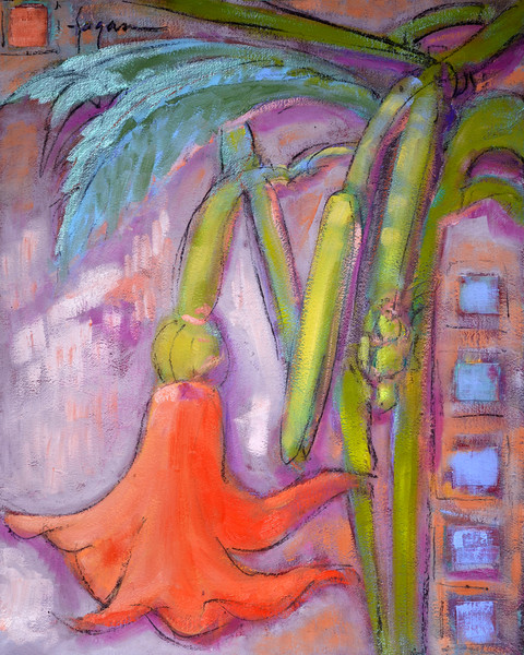 Tropical Lily Art Print on Canvas or Paper | Lyric Dance I by Dorothy Fagan
