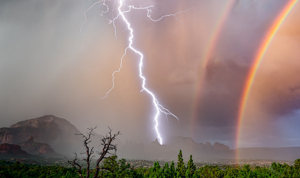 Lightning Double Rainbow Thunder Halos