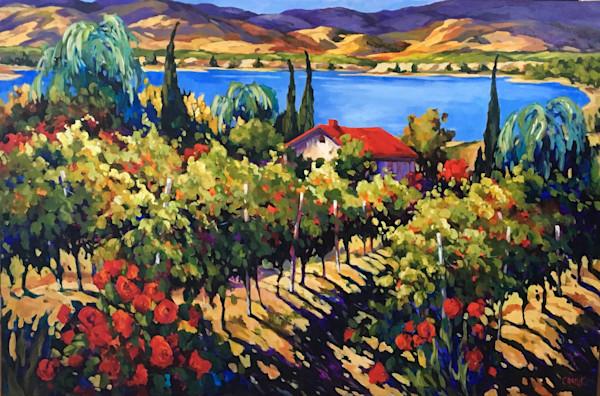 vineyard on a lake