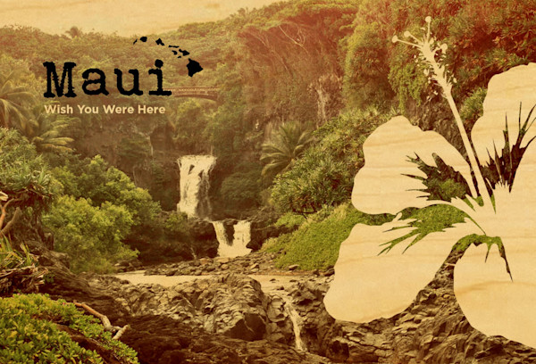 Maui Seven Sacred Pools postcard