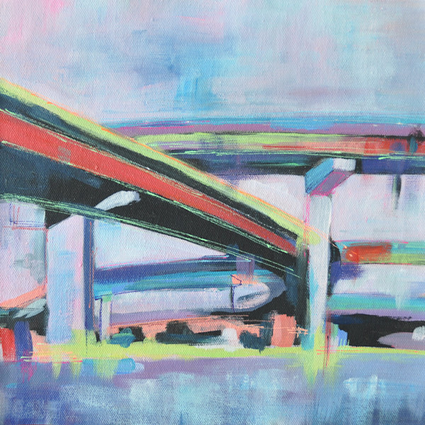 Highway Overpass acrylic painting by Steph Fonteyn