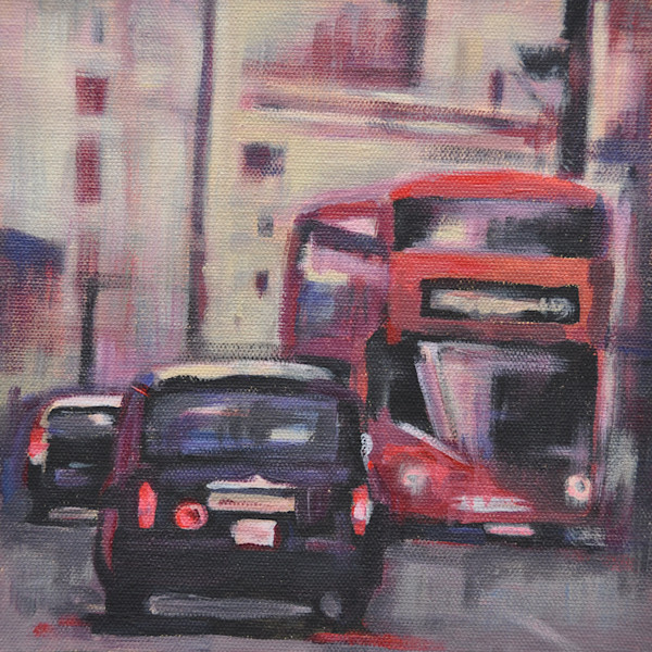 The Streets of London acrylic painting by Steph Fonteyn
