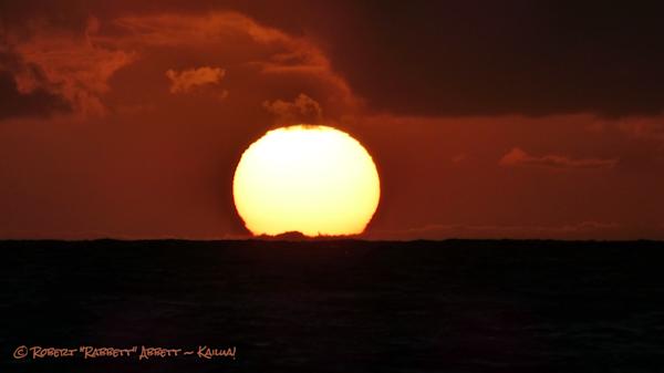 A sunrise where the sun pops right out of the horizon!  Robert Abbett Art!