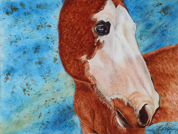 Ronnie's Tribute Horse Art by Gayela's Premiere Watercolors|Main Store