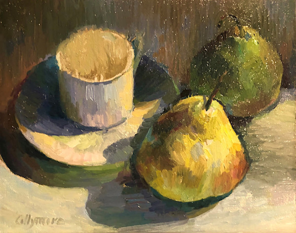 Sunlight on Cup and Pears