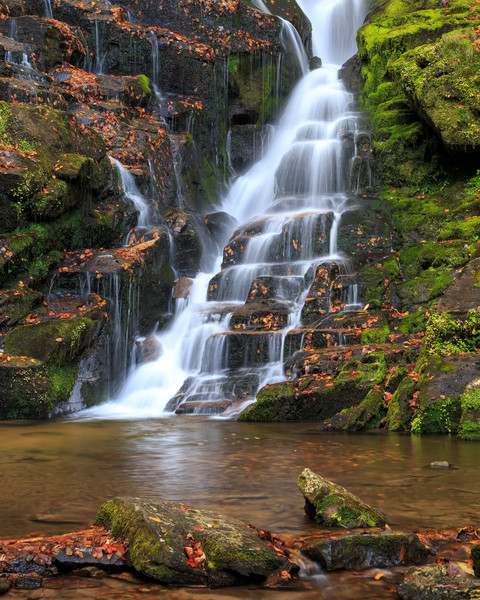 Waterfall Wall Art: Steps of Eastatoe