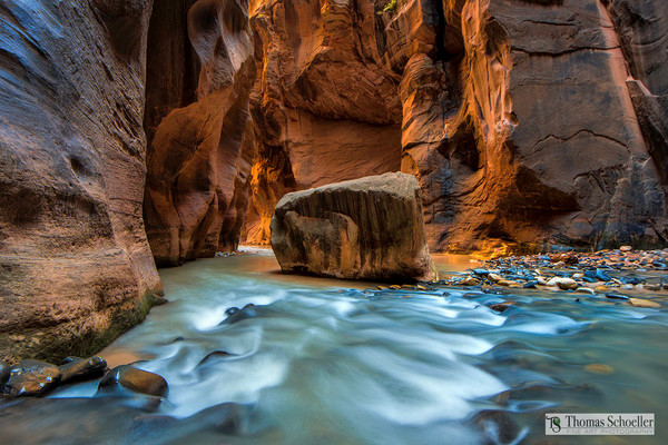 Wall Street/Virgin River Narrows of Zion National Park Utah/Fine Art photography by Thom Schoeller