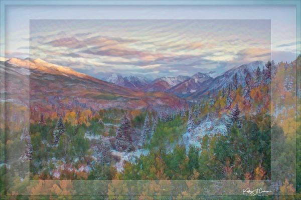 Window on Mountain Autumn
