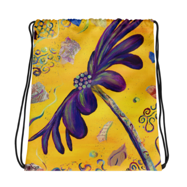 Drawstring Bags printed with Mare's Art artwork for a unique, stylish look.