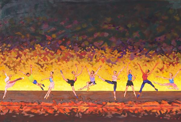 Taking The Leap, fine art print from original oil painting by Matt McLeod