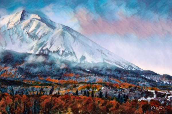 Mountainscape in Autumn