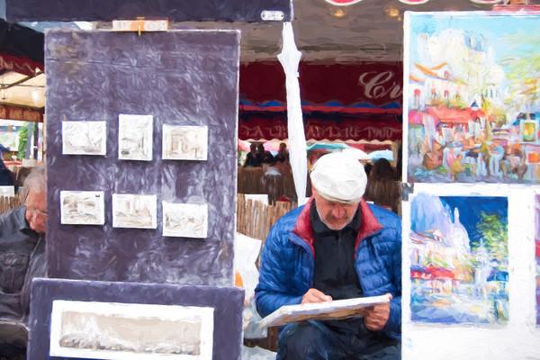 Photo of Working Artist in Montmartre