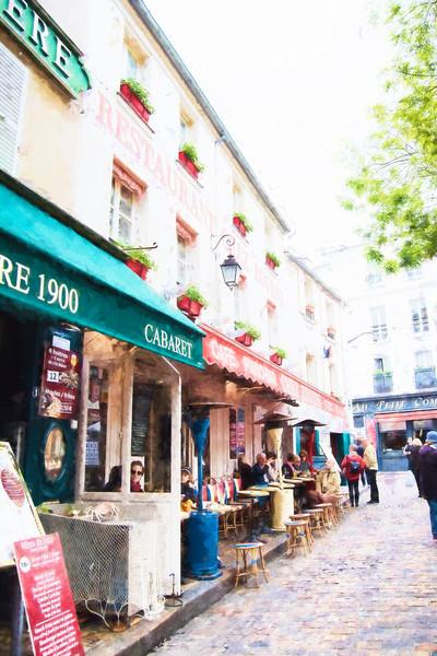 Chez Eugene Sidewalk Cafe Art Paris Montmartre