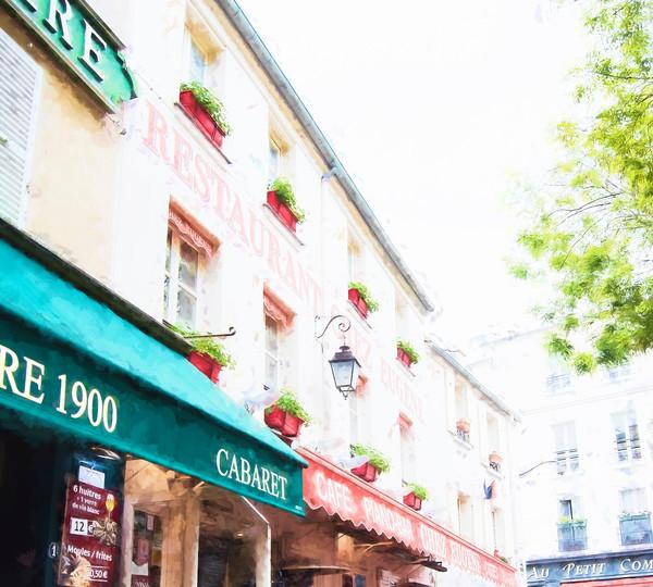 Chez Eugene Montmartre Cafe in Paris