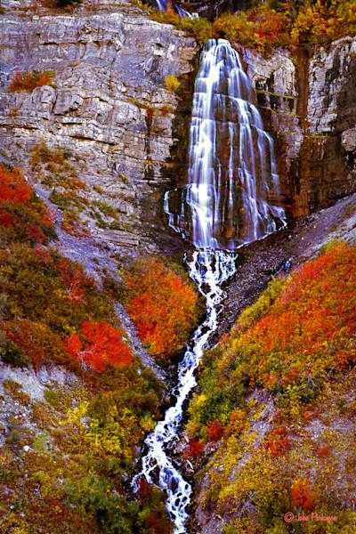 Bridal Veil Falls, in Provo Canyon, Utah in Autumn