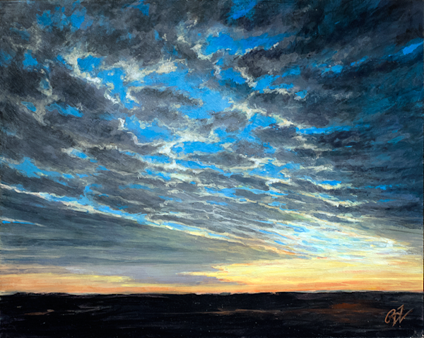 Blue Beyond the Clouds Original Painting