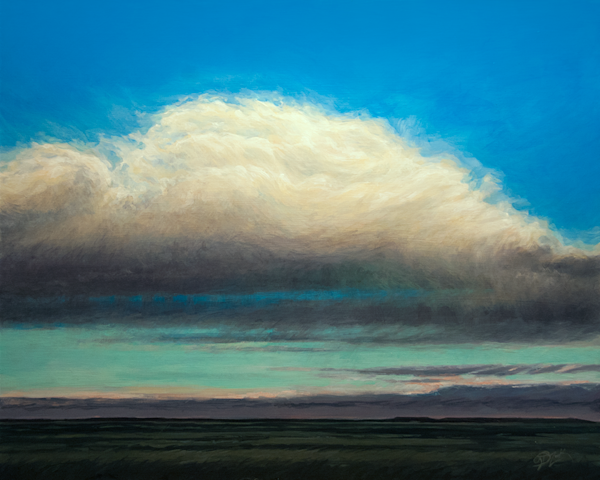 Solitary Cloud Original Painting