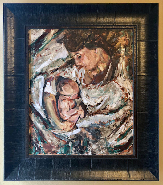 Mother and Child, an original oil painting by artist Booker Tueller