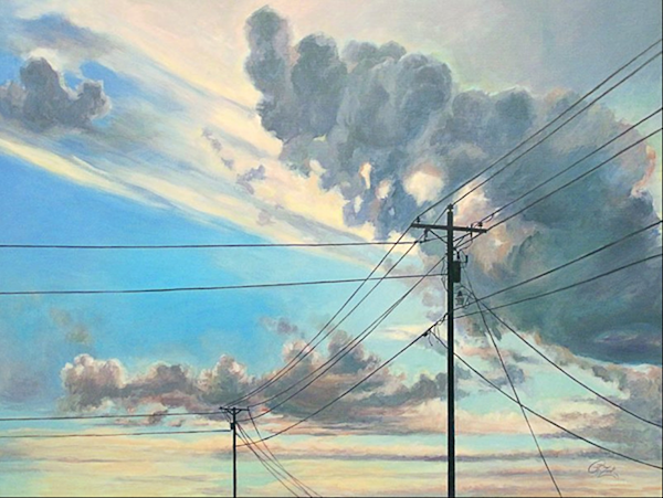 Dividing The Sky Original Painting