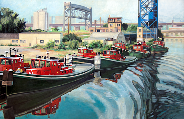 Tugboats On The Ohio Original Painting