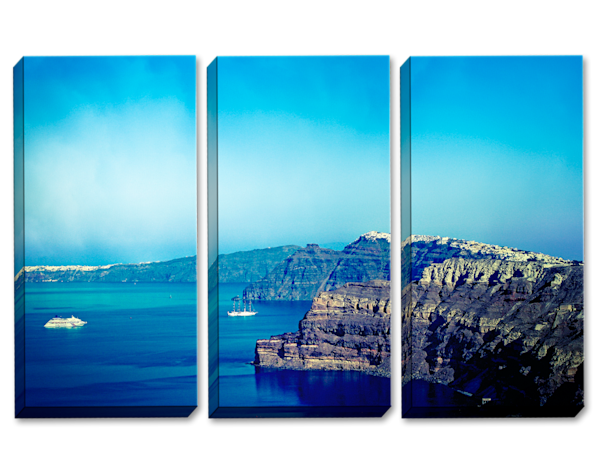 16 Shades of Blue Triptych