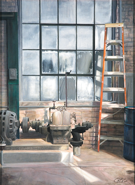 The Old Power Plant Original Painting